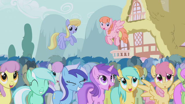 File:The ponies laugh at Trixie's performance S1E06.png