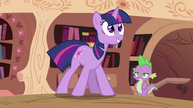 File:Spike looking at Twilight Sparkle 2 S2E03.png