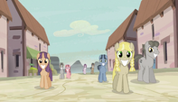Equal ponies following Mane Six S5E1