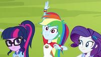 "Rainbow Dash calls out ""archery!"" EG4"