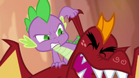 Spike pulling on Garble's ear S6E5
