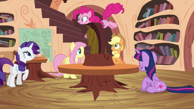 File:Pinkie Pie bouncing around library S4E18.png