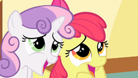 Sweetie Belle and Apple Bloom 'Awww' S1E23