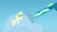Vapor propels Sky forward with a gust of wind S6E24