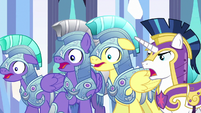 Shining Armor and royal guards gasping S6E16