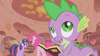 "Spike calls Pinkie ""pink with envy"" S1E05"