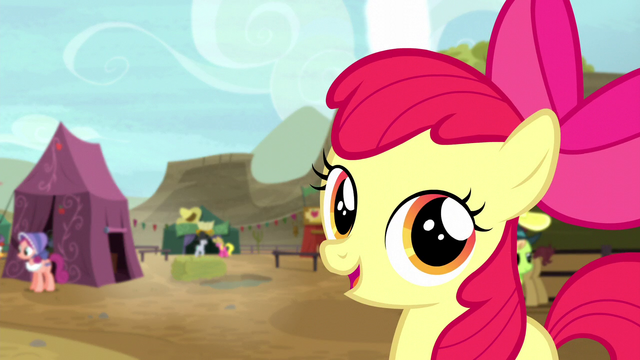 "File:Apple Bloom ""aren't you glad y'all came with me"" S5E6.png"