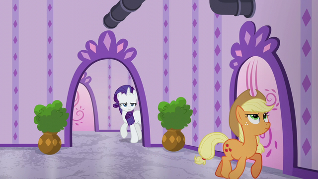 File:Rarity follows Applejack while annoyed S6E10.png