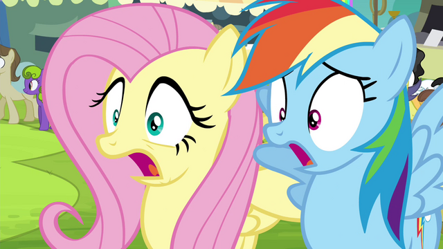 File:Fluttershy and Rainbow Dash gasp S4E22.png