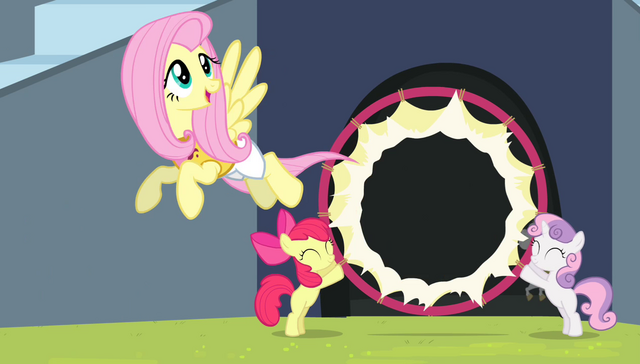 File:Fluttershy flying through the hoop S4E24.png