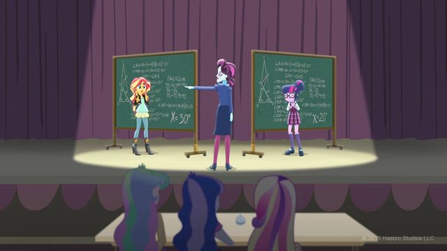 File:Sunset Shimmer, Principal Cinch and Sci-Twi Shout Kids.jpg