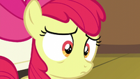 Apple Bloom hears she got her cutie mark again S5E4