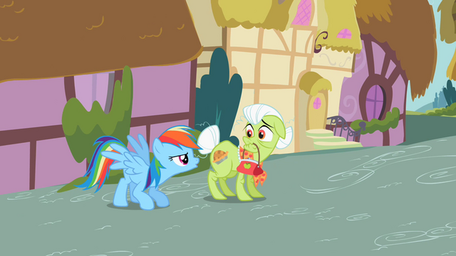 File:Rainbow Dash with Granny Smith S2E08.png