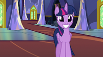 Twilight Changeling grinning wide at Starlight S6E25