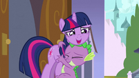 Spike and Twilight hug S3E2