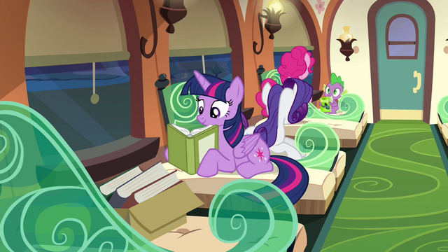 File:Twilight and company on the train S4E22.png