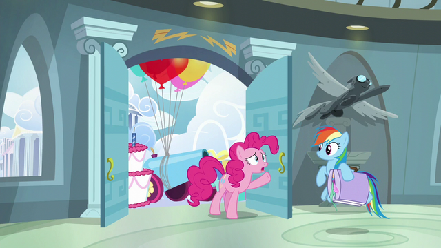 "File:Pinkie ""barely started your congratulation party"" S6E7.png"