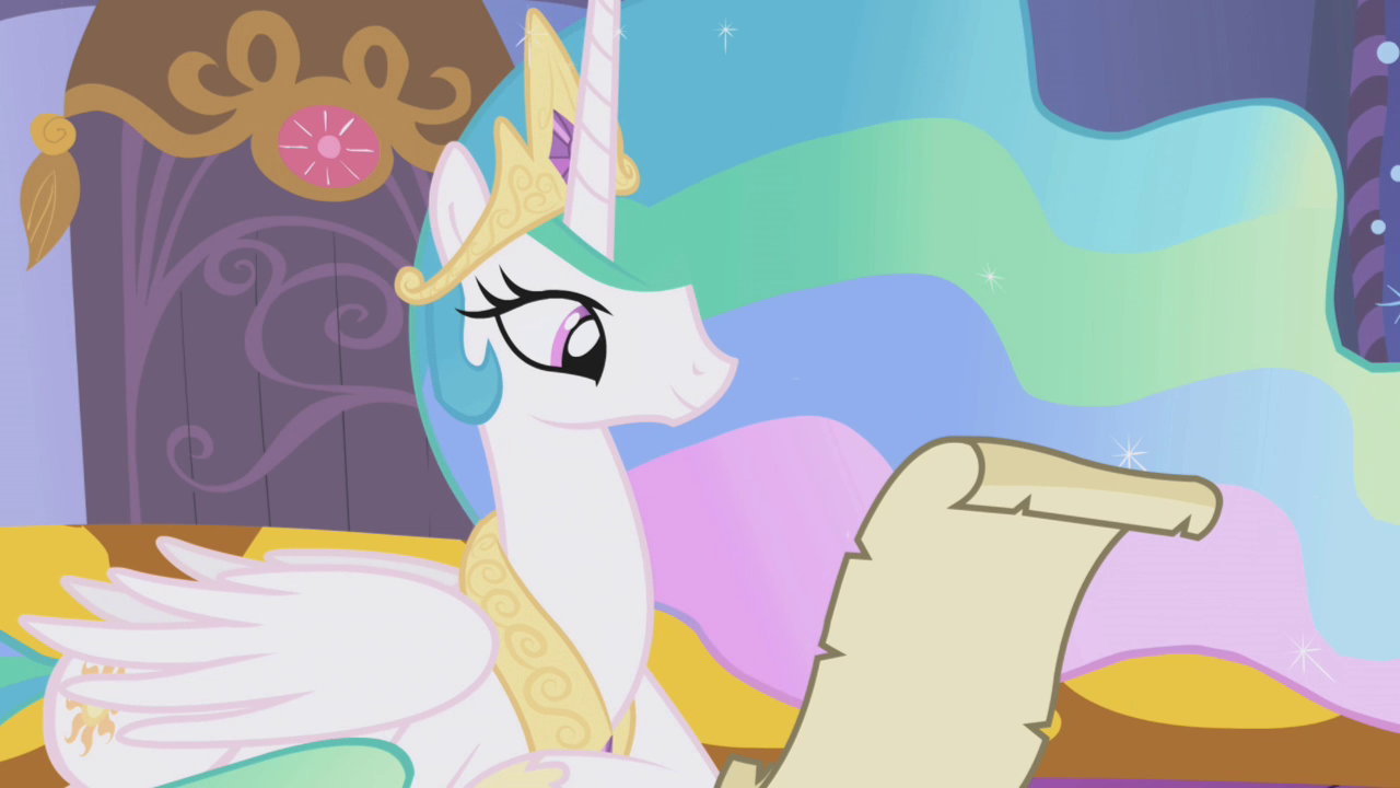http://vignette4.wikia.nocookie.net/mlp/images/2/2a/Celestia_reading_Twilight's_letter_S1E05.png/revision/latest?cb=20140526015745