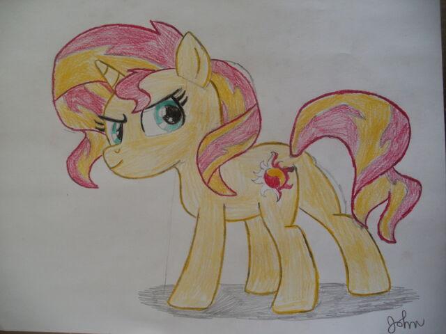 File:FANMADE Sunset Shimmer drawing.jpg