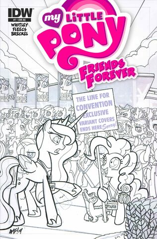 File:Friends Forever issue 7 cover RE BronyCon verB.jpg
