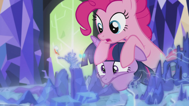File:Pinkie on Twilight's head S5E8.png