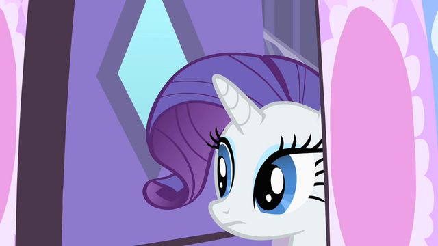 File:Rarity cautiously looking outside her house S1E25.png