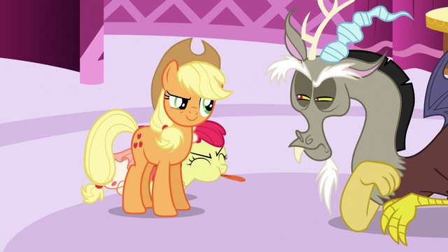 File:Apple Bloom blows raspberry at Discord S5E7.png