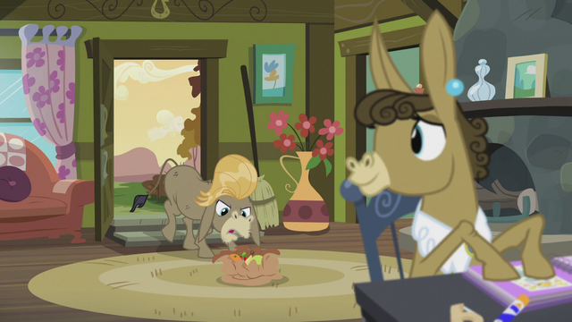 File:Matilda sees Cranky putting down a sack of fruits S5E9.png