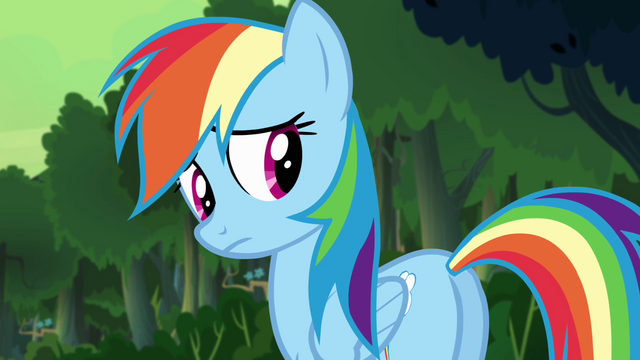 File:Rainbow looking back to her friends S4E04.png