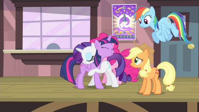 File:Rarity hugging Twilight S4E11.png