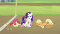 Apple Bloom, Sweetie Belle and Applejack laughing S2E05.png