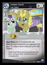 Golden Gavel, Fast Talker card MLP CCG
