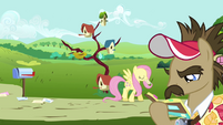 Fluttershy walking away with her mail S2E19