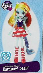 Rainbow Dash Equestria Girls doll pamphlet