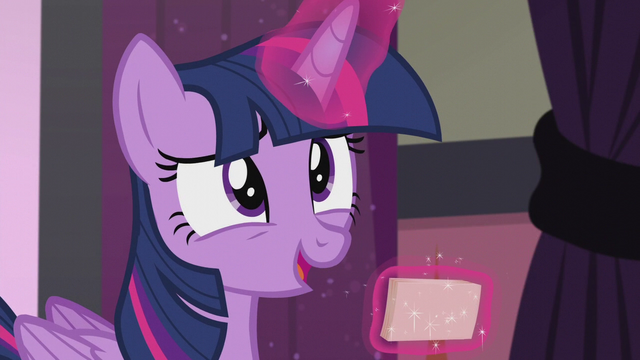 "File:Twilight ""real question about Cutie Mark Magic"" S5E25.png"