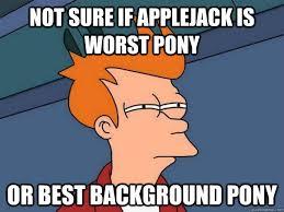 File:Applejack background pony meme.jpg