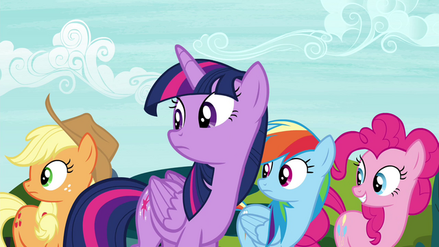 File:Twilight and friends looking back to princesses S4E26.png