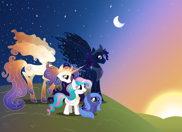 File:FANMADE Celestia and Luna with their parents.png