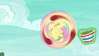 Fluttershy's spinning tail catch S6E18