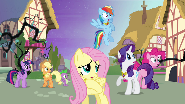 File:Ponies frightened by the forest S4E02.png
