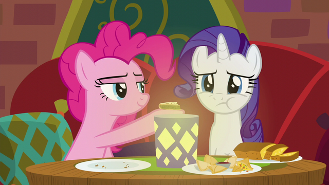 File:Rarity chewing Pinkie Pie's food S6E12.png