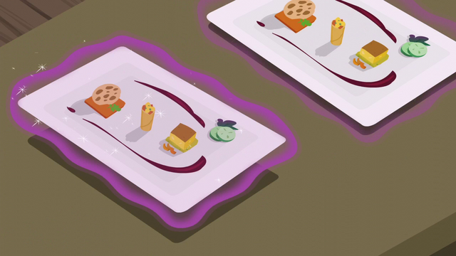 File:Row of fancy food trays S6E12.png