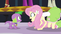 Fluttershy talking to Spike EG