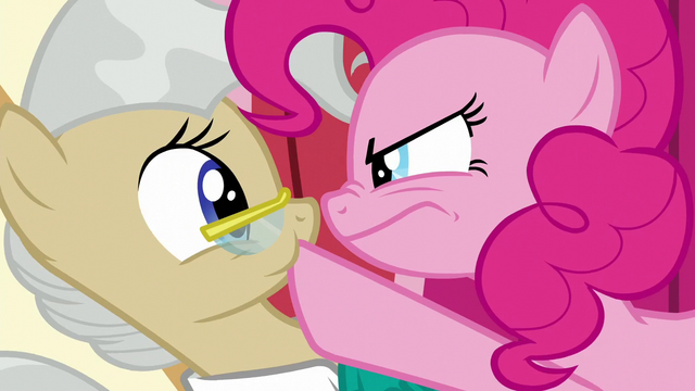 File:Pinkie plugging Mayor Mare's mouth S5E19.png