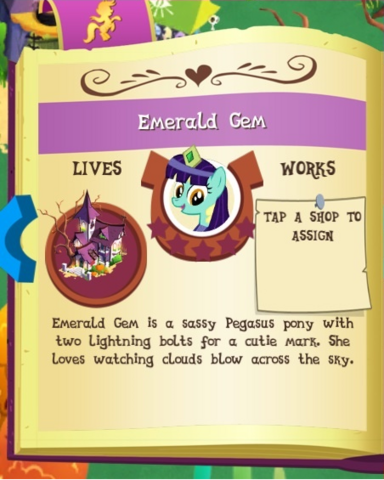 File:Emerald Gem album MLP Gameloft.png
