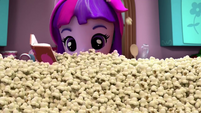Twilight Sparkle buried in popcorn EGM2