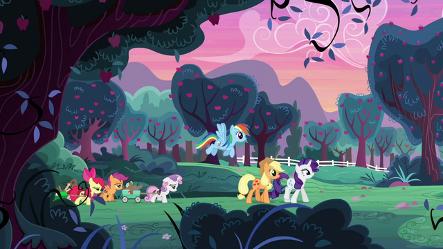 File:AJ, Rainbow, Rarity, and CMCs on the farm S6E14.png