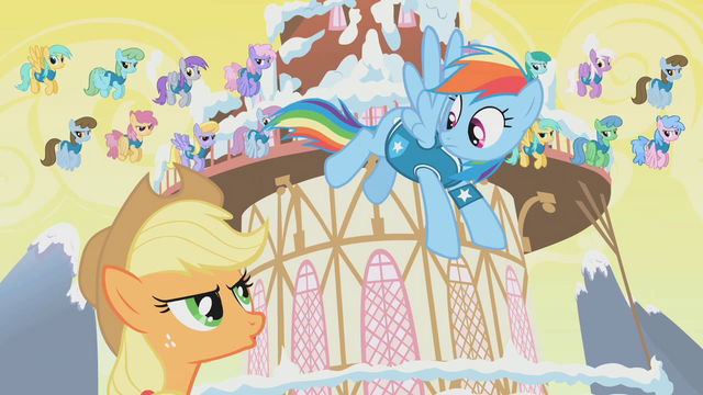 File:Applejack and Rainbow Dash arguing S1E11.png