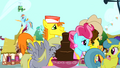 Derpy drinking from chocolate fountain S4E12.png