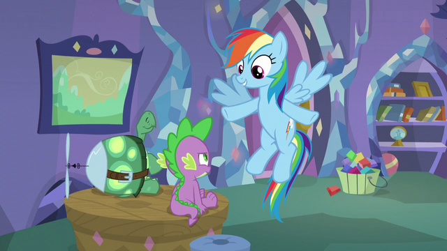 """File:Rainbow """"You're practically twins!"""" S5E5.png"""